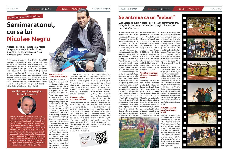 Poveste Nicolae Negru în ziarul 4run.ro OFFLINE