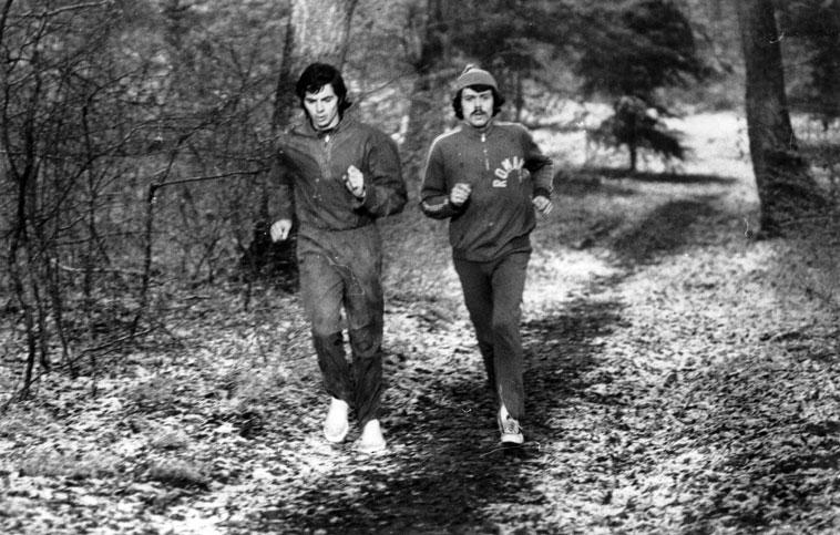 Cătălin Andreica (dreapta) alături de Dan Betini în 1978 la Baile Felix