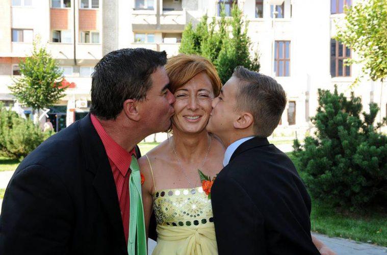 Lidia Șimon, alături de familie