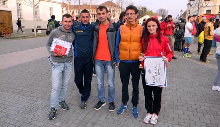 Alexandru Staicu, alături de colegii de la Târgu Jiu - Gabi Gorun, Eugen Șorop, Daniel Lupulescu și Adela Bălțoi