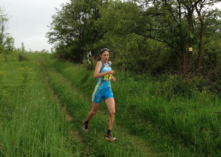Simona Staicu, la un concurs de trail