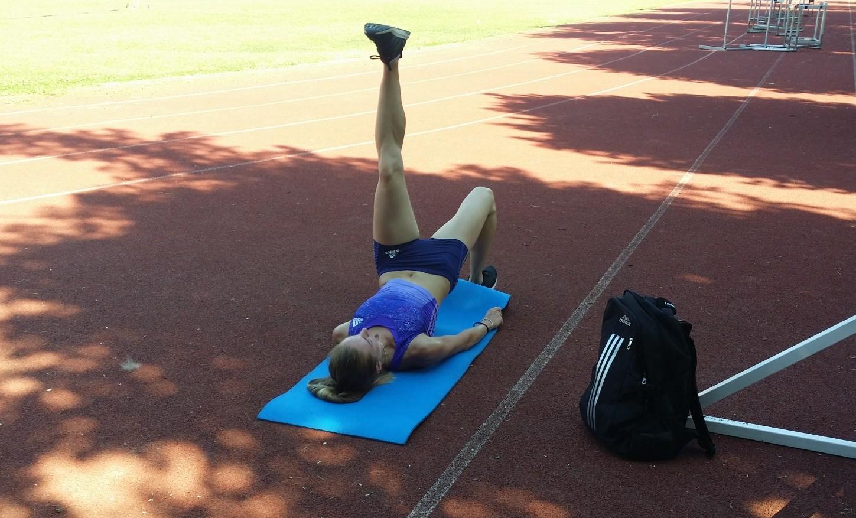Bianca Răzor, la un antrenament ușor