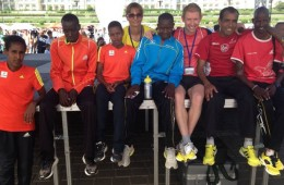Favoriții din Kenya, la Semi-maratonul București // foto: Sorin Ion