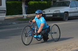 Alergător în scaun cu rotile