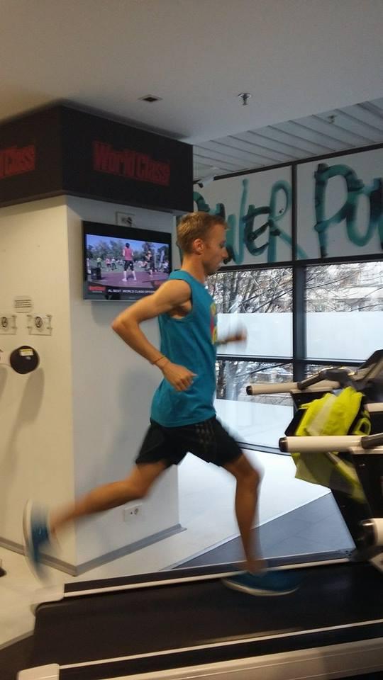 Marius Ionescu, pe banda de alergare