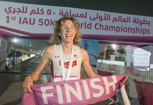 Camille Herron, la Doha