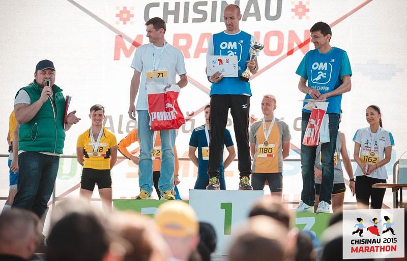 Vitalie Gheorghiță, pe podium la maratonul Chișinău