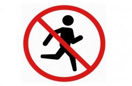 Jogging interzis!