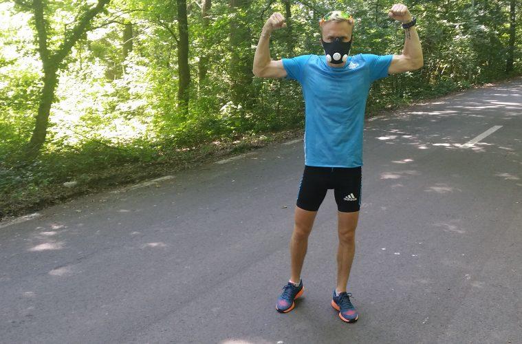 Marius Ionescu, cu masca de antrenament / foto: 4run.ro