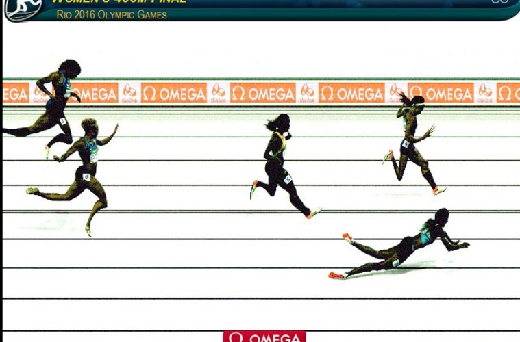 Finiș, finala olimpică 400m