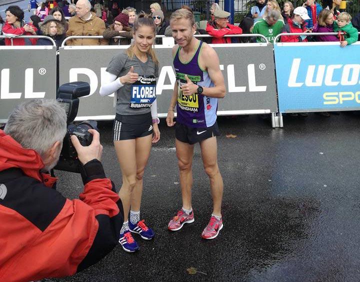 Marius Ionescu și Mădălina Florea, la Birmingham Run 2016