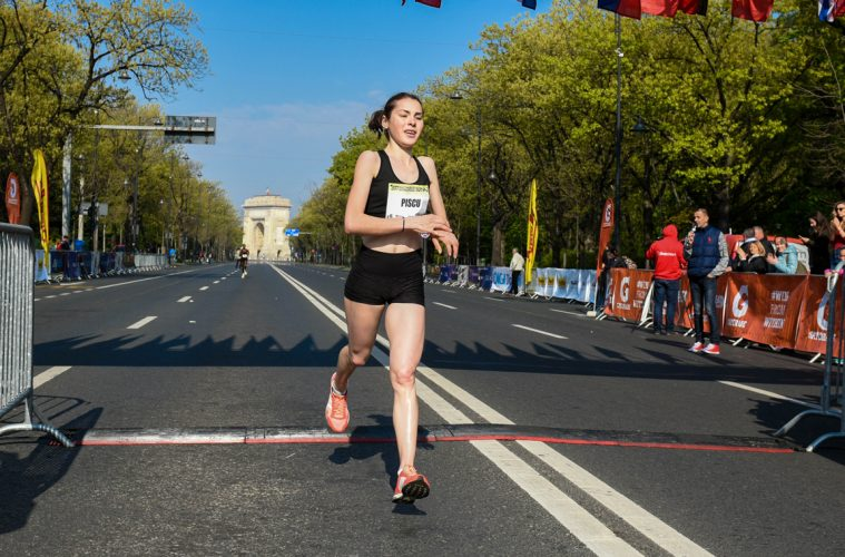 Andreea Pîșcu, la finisul Bucharest Dita 10k