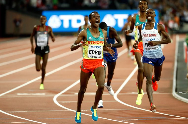 Mo Farah, 5.000 m, CM 2017, foto: Getty