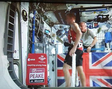 Tim Peake, alergare pe banda in spatiu cosmic