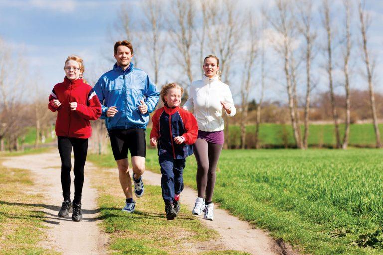 Alergare în familie