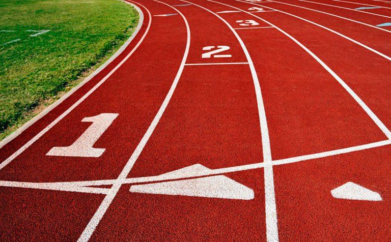 Pistă de atletism, alergare