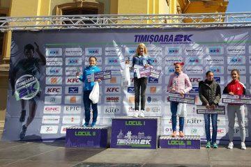Ancuța Bobocel, Liliana Dragomir și Adela Bălțoi, pe podium la Timisoara 21k