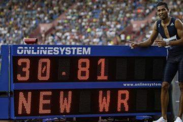 van Niekerk, nou record mondial la 300m
